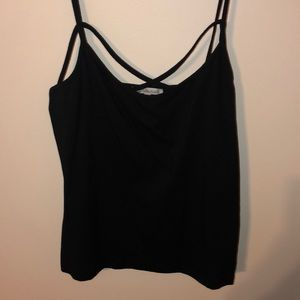 Charlotte Russe cross front tank top